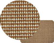 Spód nowoczesnego dywanu flora to juta.